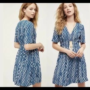 Anthro HD in Paris Archipelago dress 8 blue